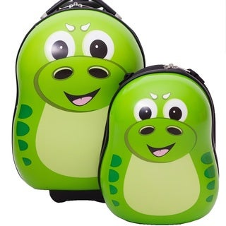 Cuties & Pals P-Rex Dinosaur Kids 2-piece Hardside Luggage Set