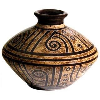 Angular Petryglyph Inspired Decorative Vase (Nicaragua)