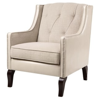 Regency Cream Tufted-Back Accent Chair