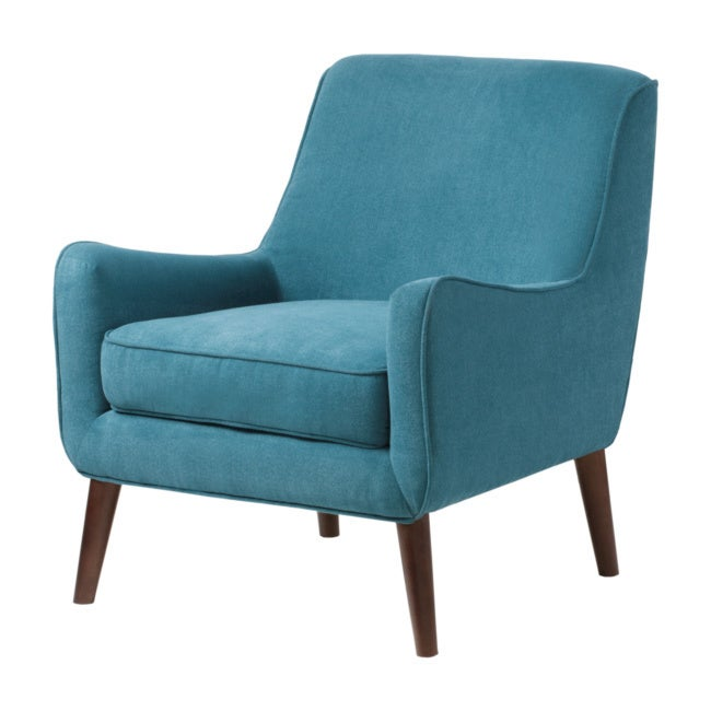 Oxford teal modern accent chair overstock shopping for Teal accent chairs in living room