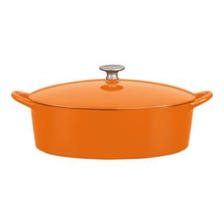 Mario Batali by Dansk 6-quart Oval Persimmon Dutch Oven
