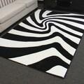 Hollywood Design-287 Black Zebra Skin Pattern Area Rug (5x7)