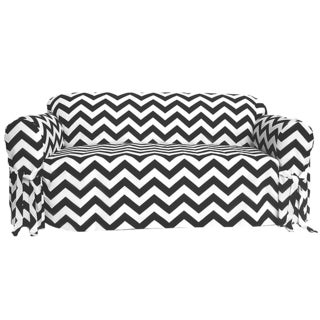 Chevron Print 1-piece Sofa Slipcover