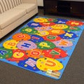 DonnieAnn Paradise Alphabets Ballon Design Multicolor Area Rug (5'x7')