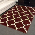 DonnieAnn Tiffany Design Geometric Pattern Burgundy Area Rug (5'x7')