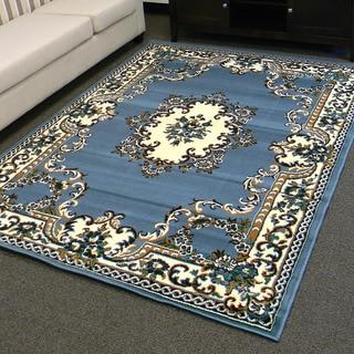 DonnieAnn TajMahal Blue Oriental Design Area Rug (5'x7')