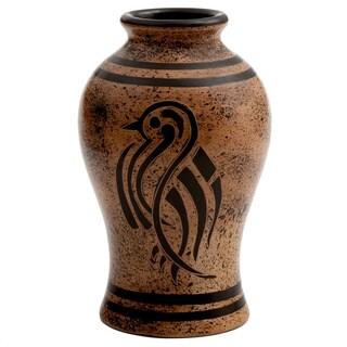 Handmade Hawk in Silhouette Decorative Vase (Nicaragua)