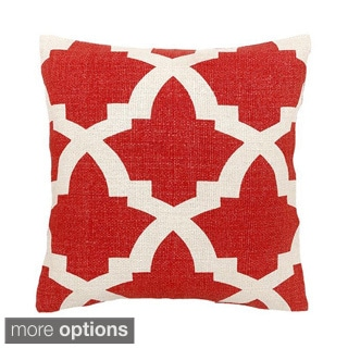 Red/ White Maui Decorative Throw Pillow