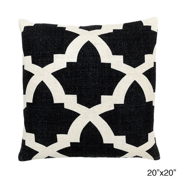 Black Zanzibar Decorative Throw Pillow