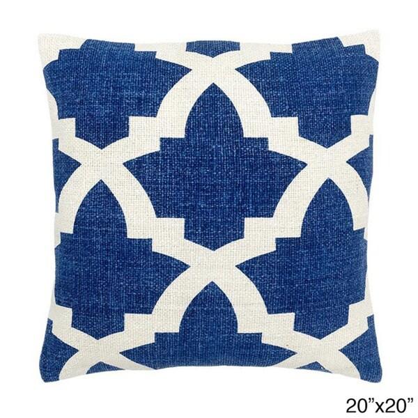 Blue/ White Mykonos Decorative Throw Pillow