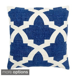 Blue/ White Mykonos Decorative Throw Pillow
