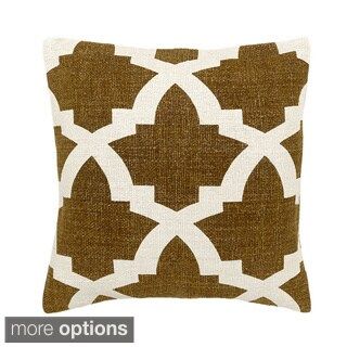 Camel/ White Bali Decorative Throw Pillow