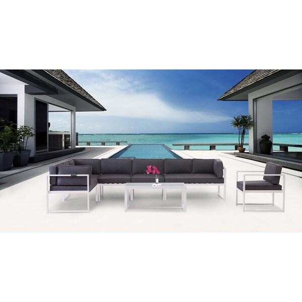 Golden Beach Grey Corner Chair