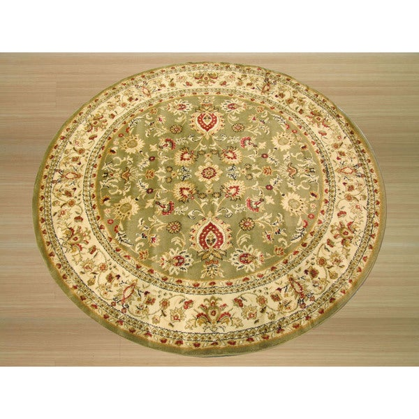 "EORC OS2555GN Green Mahal Rug (3'11"" Diameter)"