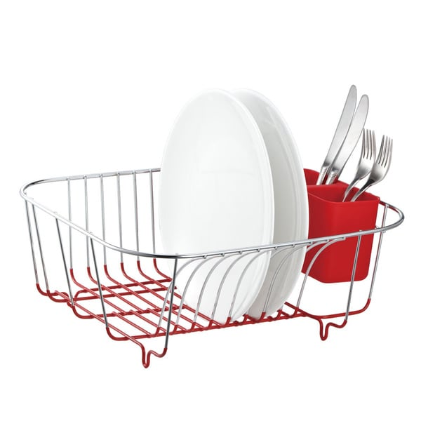 Metal Wire Dish Rack with Cutlery Cup