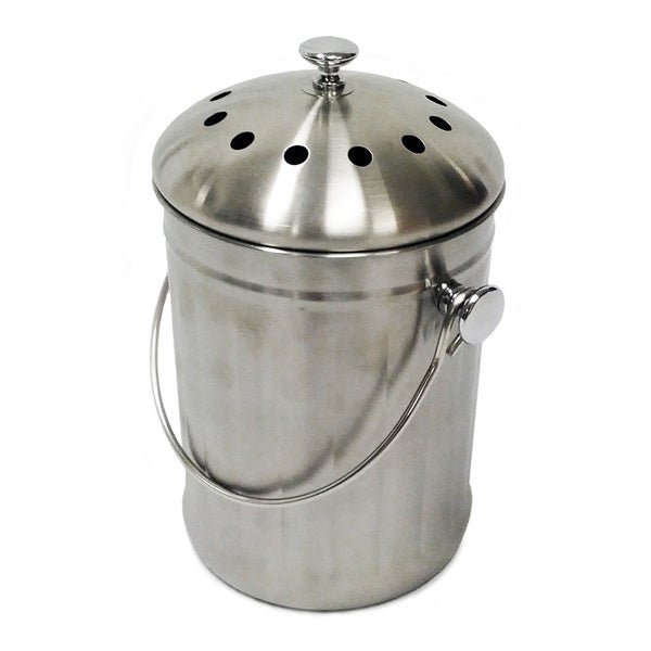 Kitchen Accents Stainless Steel Composter