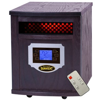 Sunheat Electric Portable Black Cherry LCD Display Infrared Heater with Remote Control