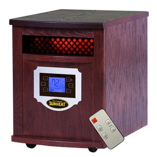 Sunheat Electric Portable Mahogany LCD Display Infrared Heater and Remote Control