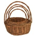 Wald Imports Unpeeled Willow Baskets (Set of 4)