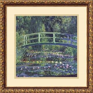 Claude Monet 'Water Lily Pond, 1899 (blue)' Framed Art Print 18 x 18-inch