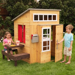KidKraft Modern Outdoor Playhouse in Honey