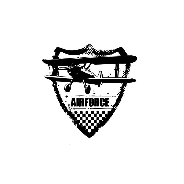 Airforce bi-plane Badge Wall Vinyl Art