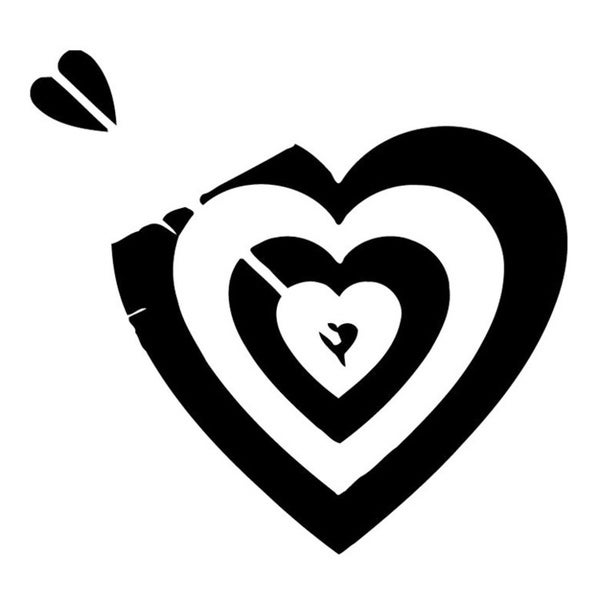 Broken Heart Target Wall Vinyl Art
