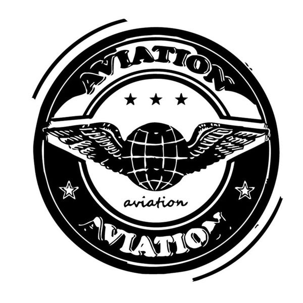 Aviation Emblem Wall Vinyl Art