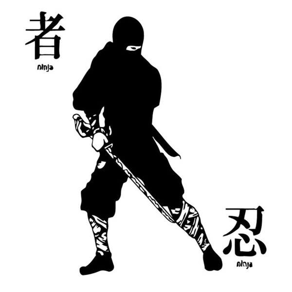 Ninja Warrior with Katana Wall Vinyl Art