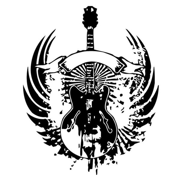 Melting Electro Guitar Logo Wall Vinyl Art