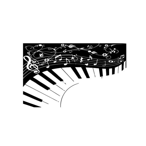 Piano Keys Music Notes Wall Vinyl Art
