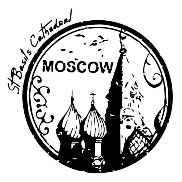 Moscow St Basil's Cathedral Wall Vinyl Art