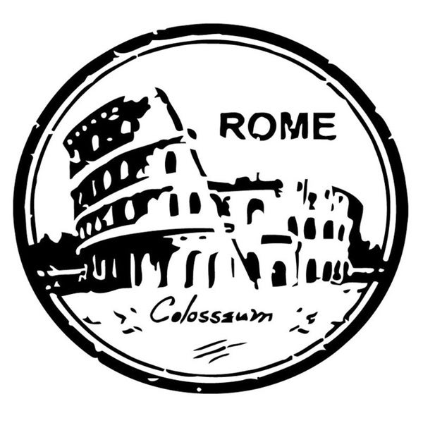Colosseum Rome Italy Wall Vinyl Art