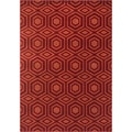 Presley Red/ Rust Rug (3'10 x 5'7)