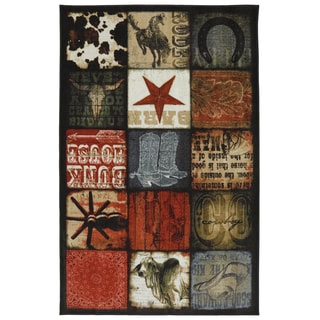 American Rug Craftsmen Escape Cowboy Patches Rug (5' x 8')