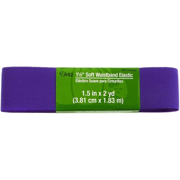 Dritz Soft Waistband Elastic 1-1/2 inches x2 Yards - Purple