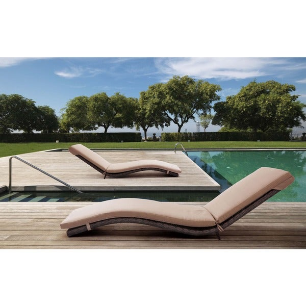 Gemini Brown Chaise Lounge
