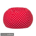 Extra Large 100-percent Cotton Polka Dot Print Bean Bag