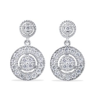 Bliss 10k White Gold 1/2ct TDW Diamond Dangle Earrings (H-I, I2-I3)