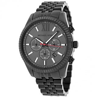 Michael Kors Men's MK8320 Large Lexington Black Ion Plated Watch