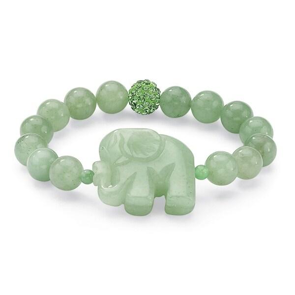 PalmBeach Green Jade Elephant Bracelet Naturalist