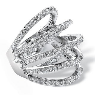 Ultimate Cubic Zirconia Multi-wrap Dome Ring