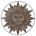 Metal Sun Wall Plaque