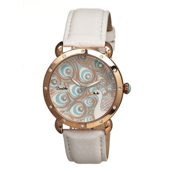Bertha Women's Genevieve Multi Leather White Analog Watch