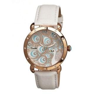 Bertha Women's Genevieve Multi Leather White Analog Watch