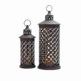 Metal Candle Lantern (Set of 2)