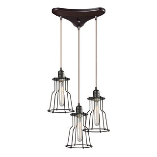 Elk Lighting 3-light Oil Rubbed Bronze Chandelier