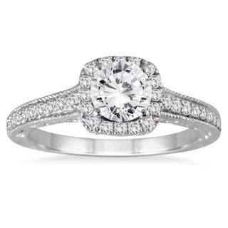 14k White Gold 1 3/8ct TDW Diamond Engagement Ring (I-J, I2-I3)