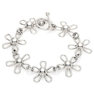 Kele & Co. Sterling Silver Flower Bracelet