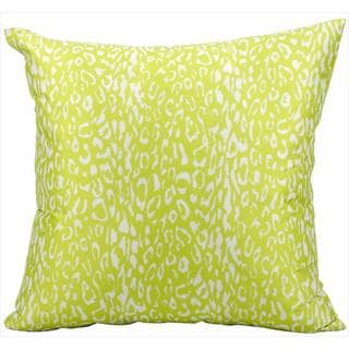 Nourison Mina Victory Green Leopard Print 20-inch Indoor /Outdoor Throw Pillow
